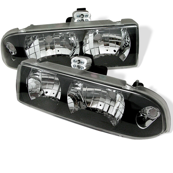 Spyder Auto HD-YD-CS1098-BK Black Crystal Headlights Chevrolet S-10 98-04