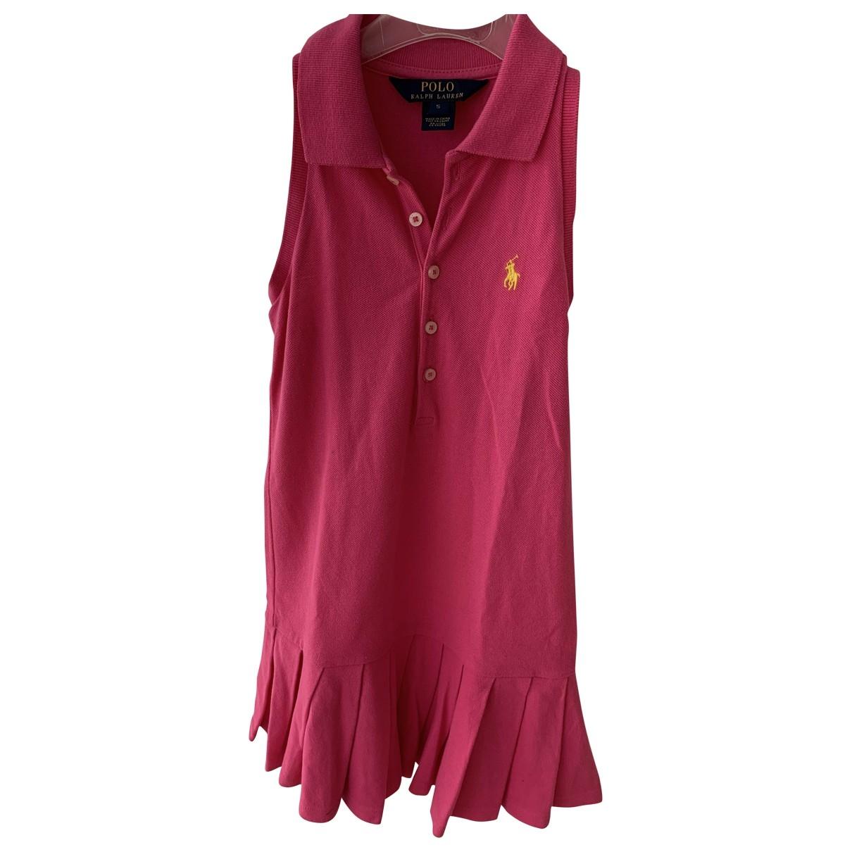 Polo Ralph Lauren - Robe    pour enfant en coton - rose
