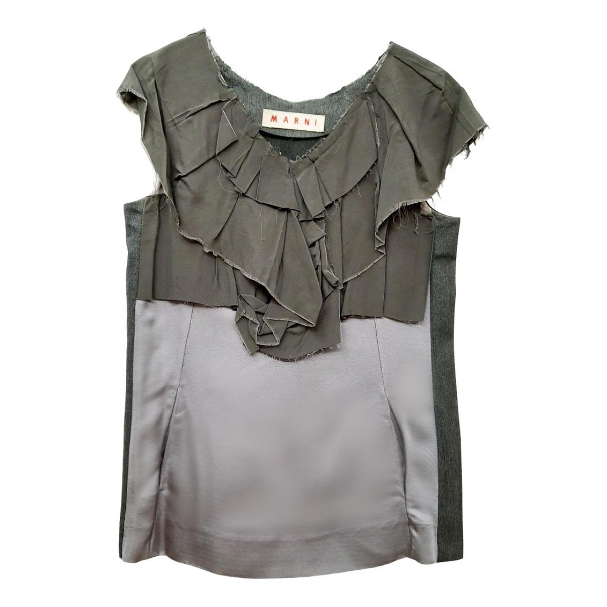 Marni - Top   pour femme - gris
