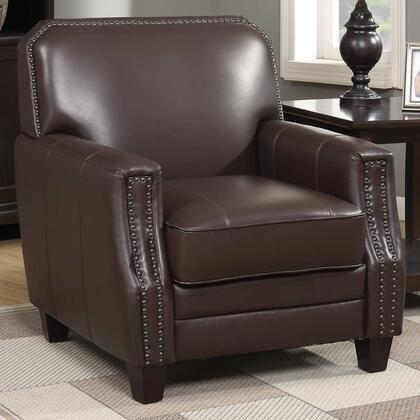 248057 Brown Full Grain Leather Club Arm
