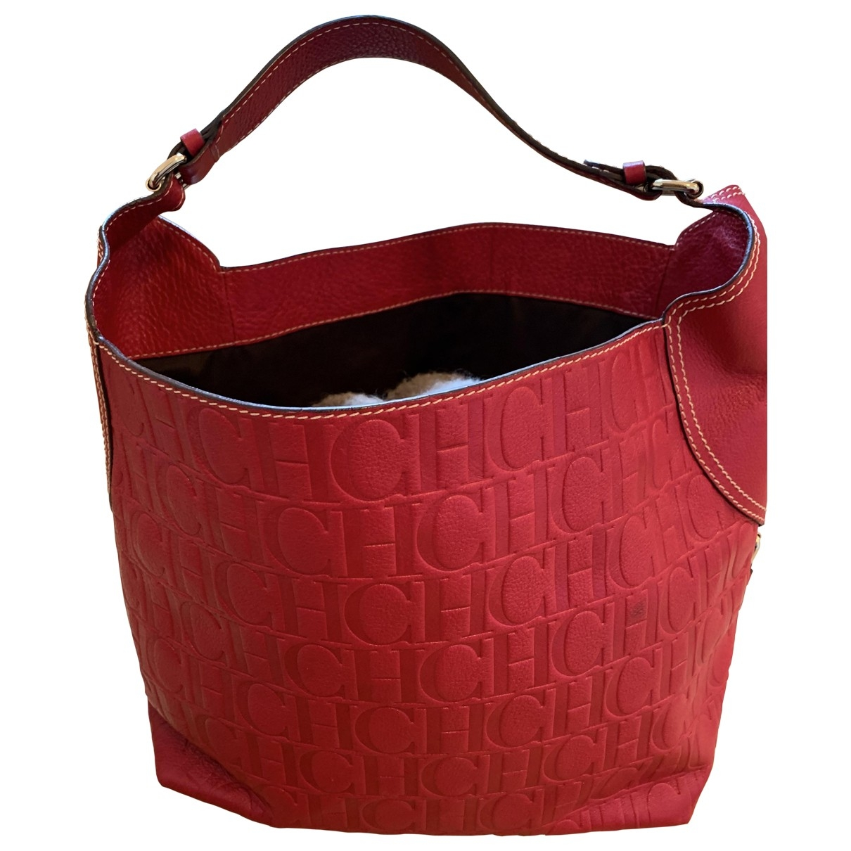 Carolina Herrera \N Handtasche in  Rot Fell