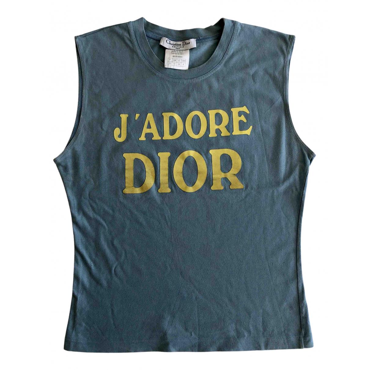 Dior \N Top in  Blau Baumwolle