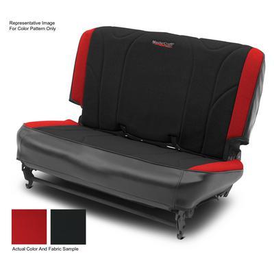 MasterCraft Safety Fold & Tumble Rear 60/40 Seat Slip Cover (Black/Red) - 702642