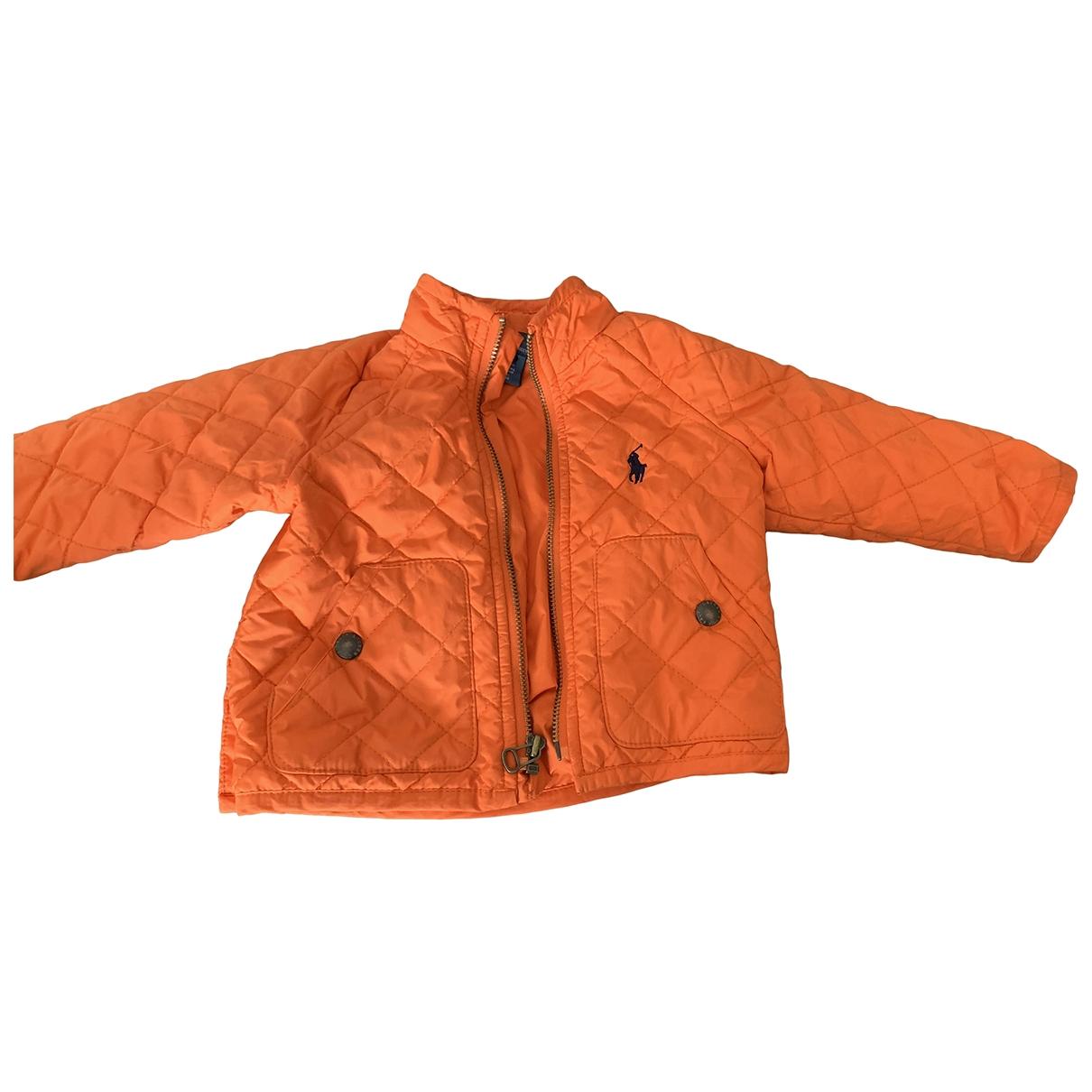 Polo Ralph Lauren \N Jacke, Maentel in  Orange Polyester
