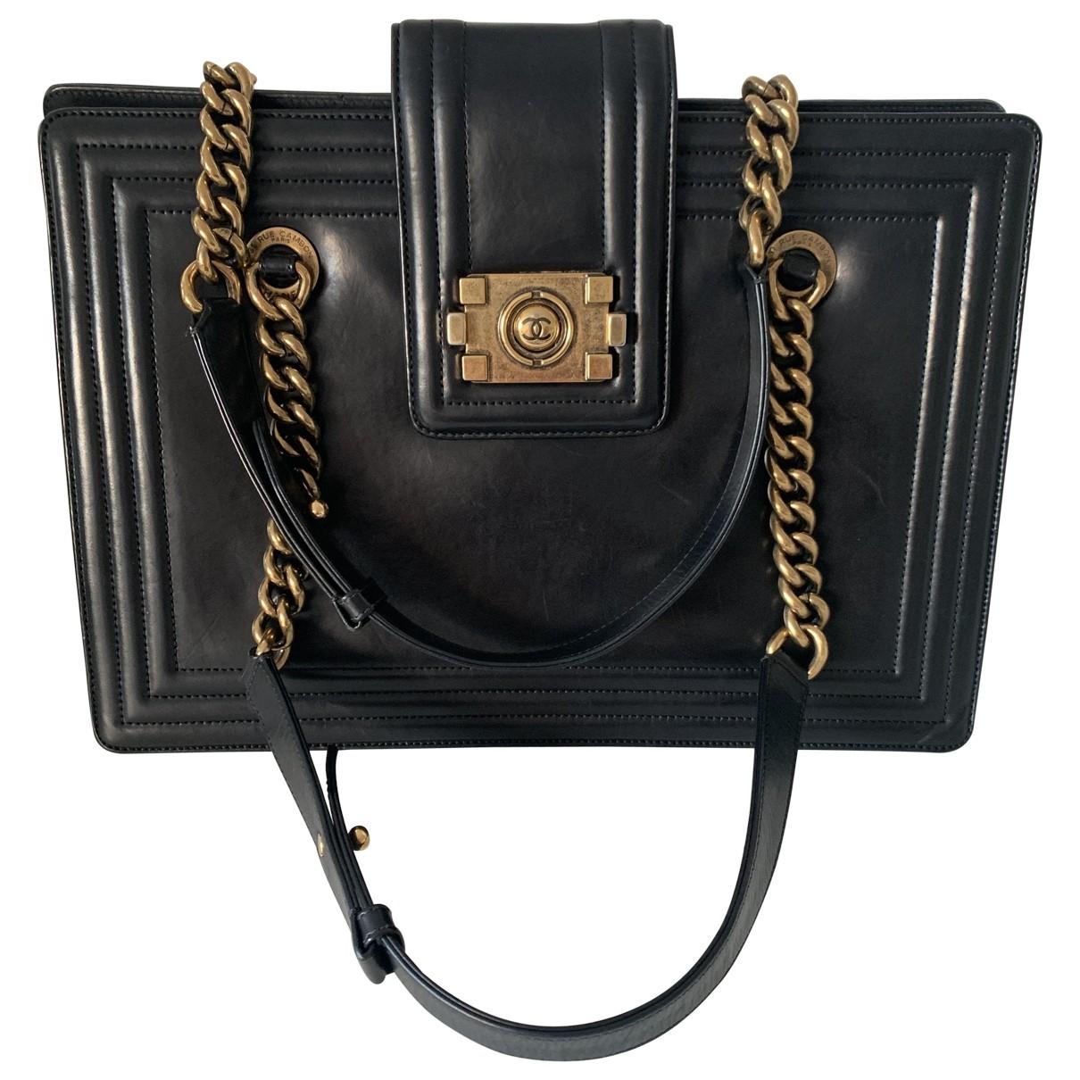 Chanel Boy Tote  Black Leather handbag for Women \N