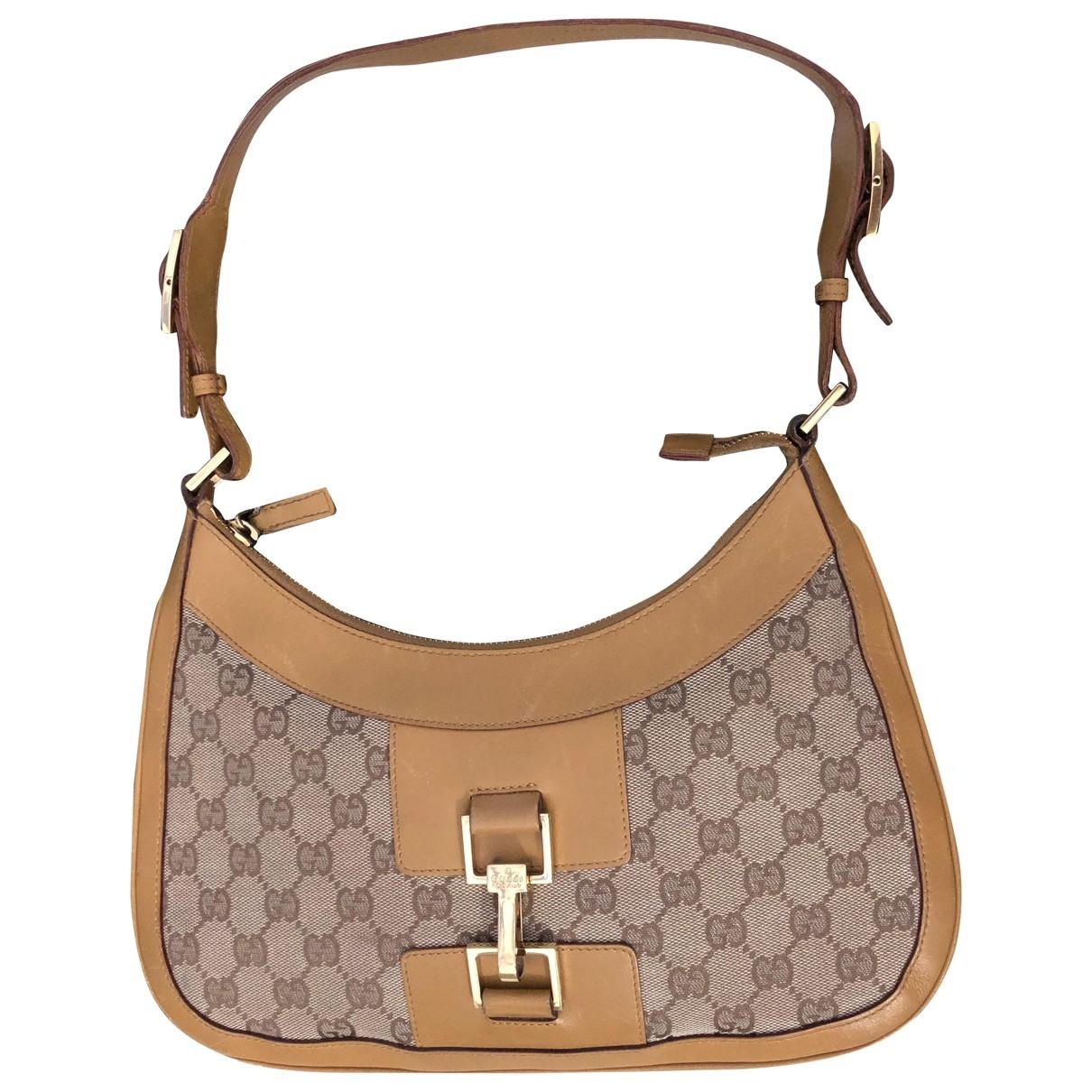 Gucci Jackie Vintage  Camel Cloth handbag for Women \N