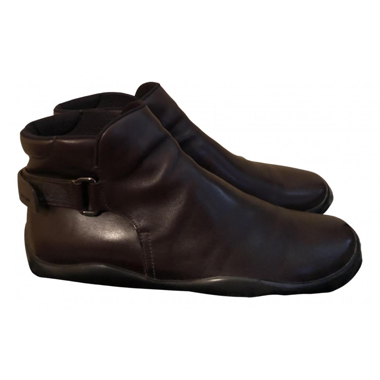 Prada - Bottes.Boots   pour homme en cuir - marron