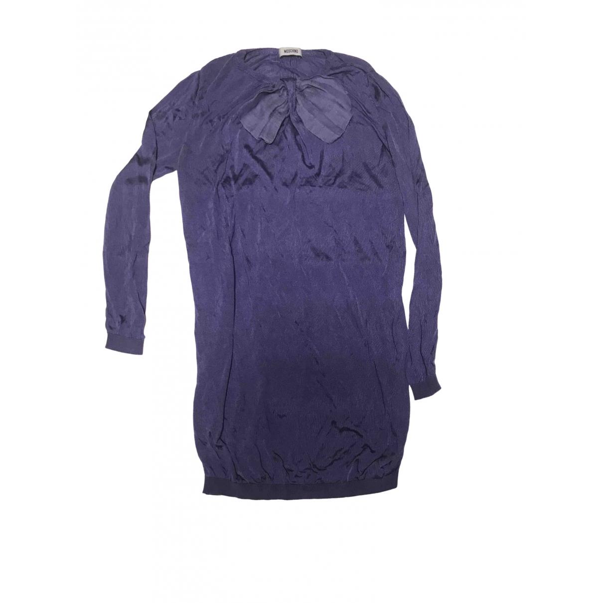 Moschino \N Kleid in  Lila Seide
