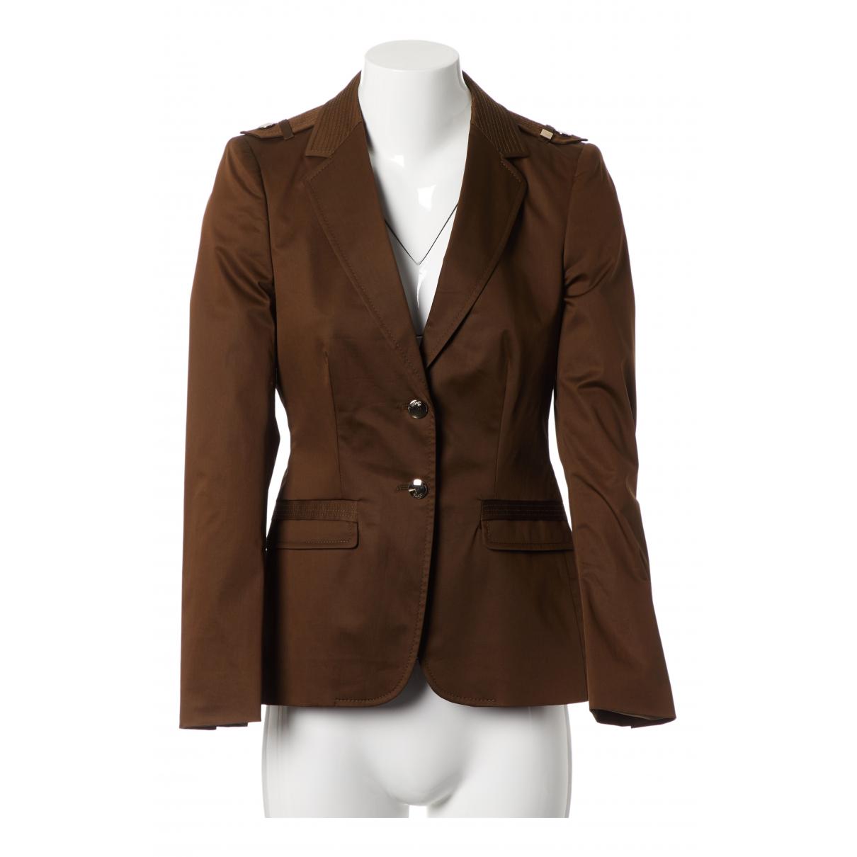 Gucci - Veste   pour femme en coton - kaki