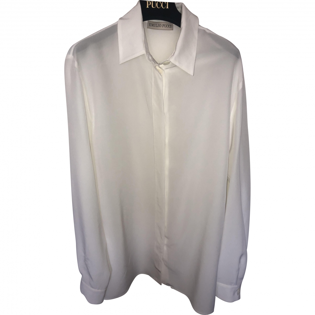 Emilio Pucci \N White Silk  top for Women 36 IT