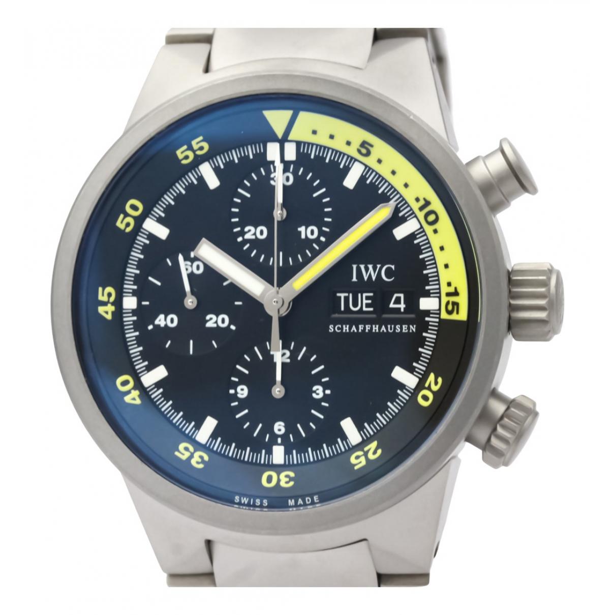 Iwc Aquatimer Uhr in  Schwarz Titan