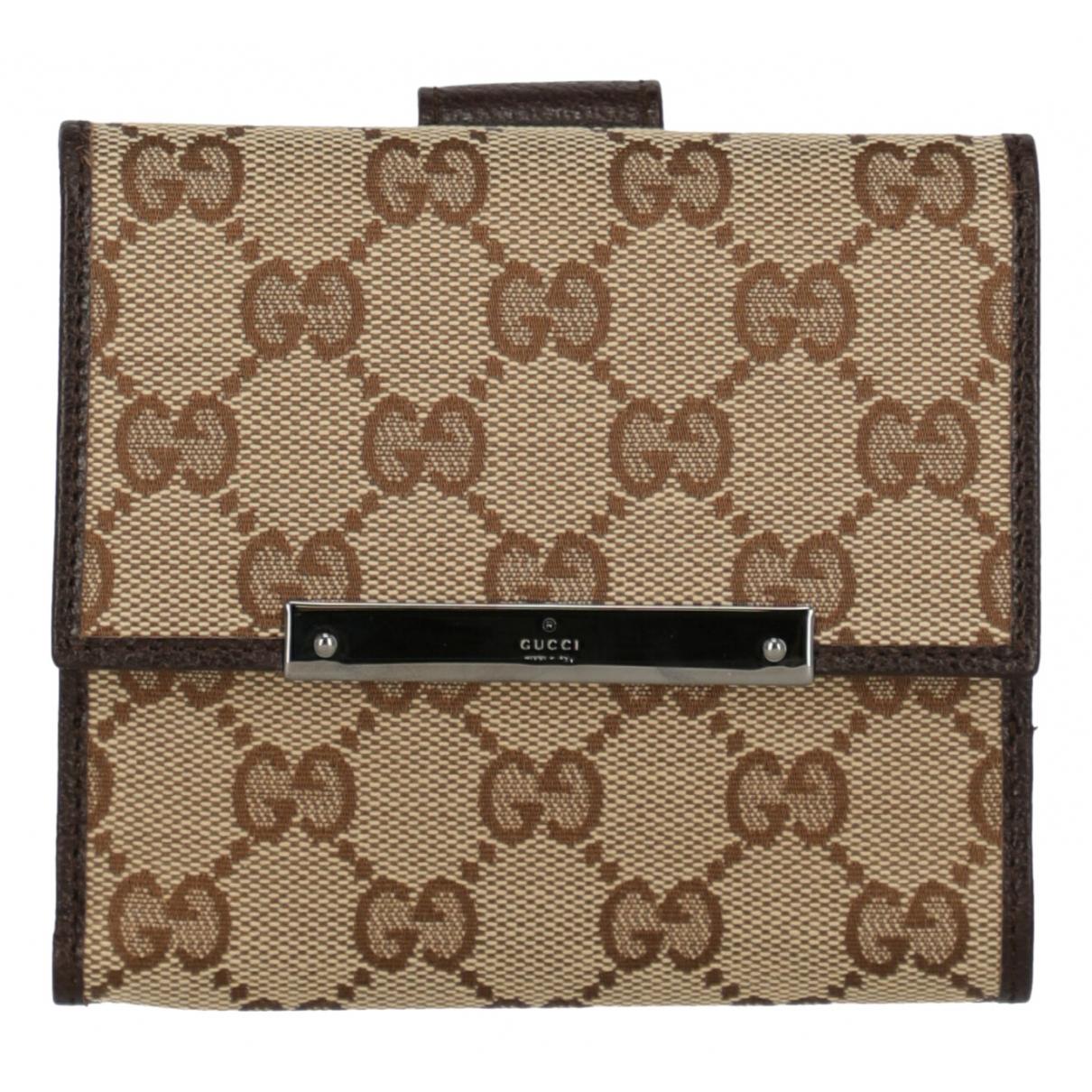 Gucci \N Beige Cotton wallet for Women \N