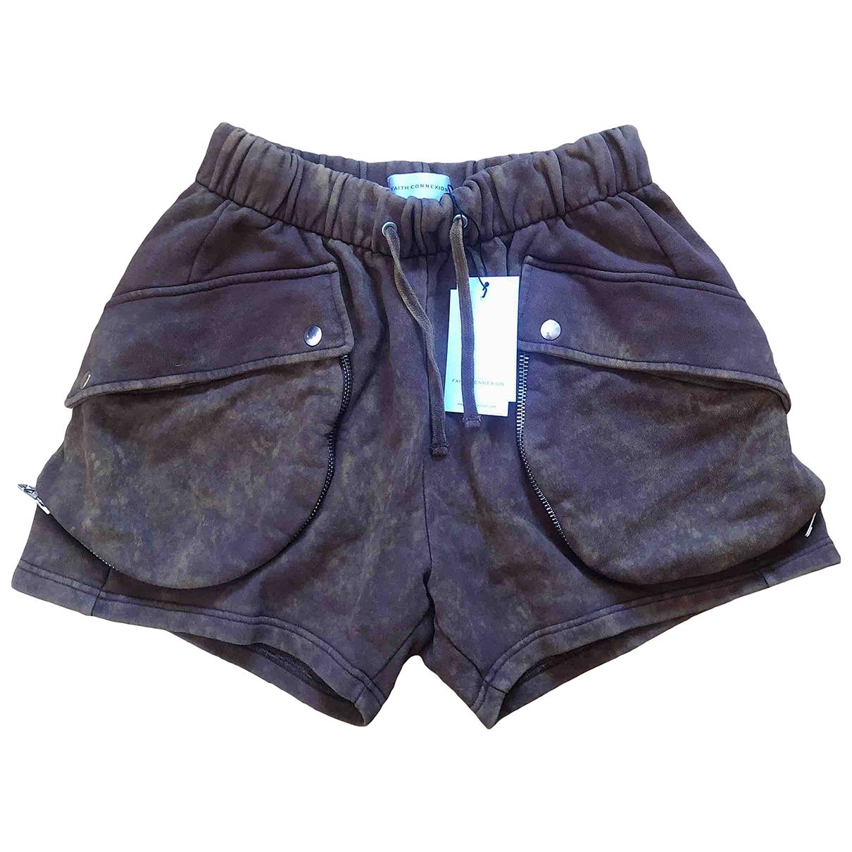 Faith Connexion \N Brown Cotton Shorts for Women L International