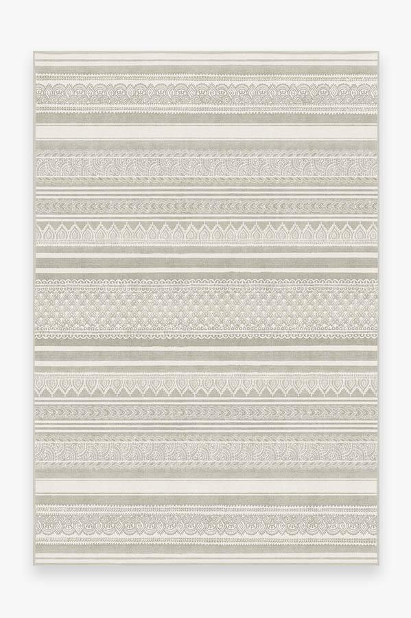 Washable Rug Cover | Nira Grey Rug | Stain-Resistant | Ruggable | 6'x9'