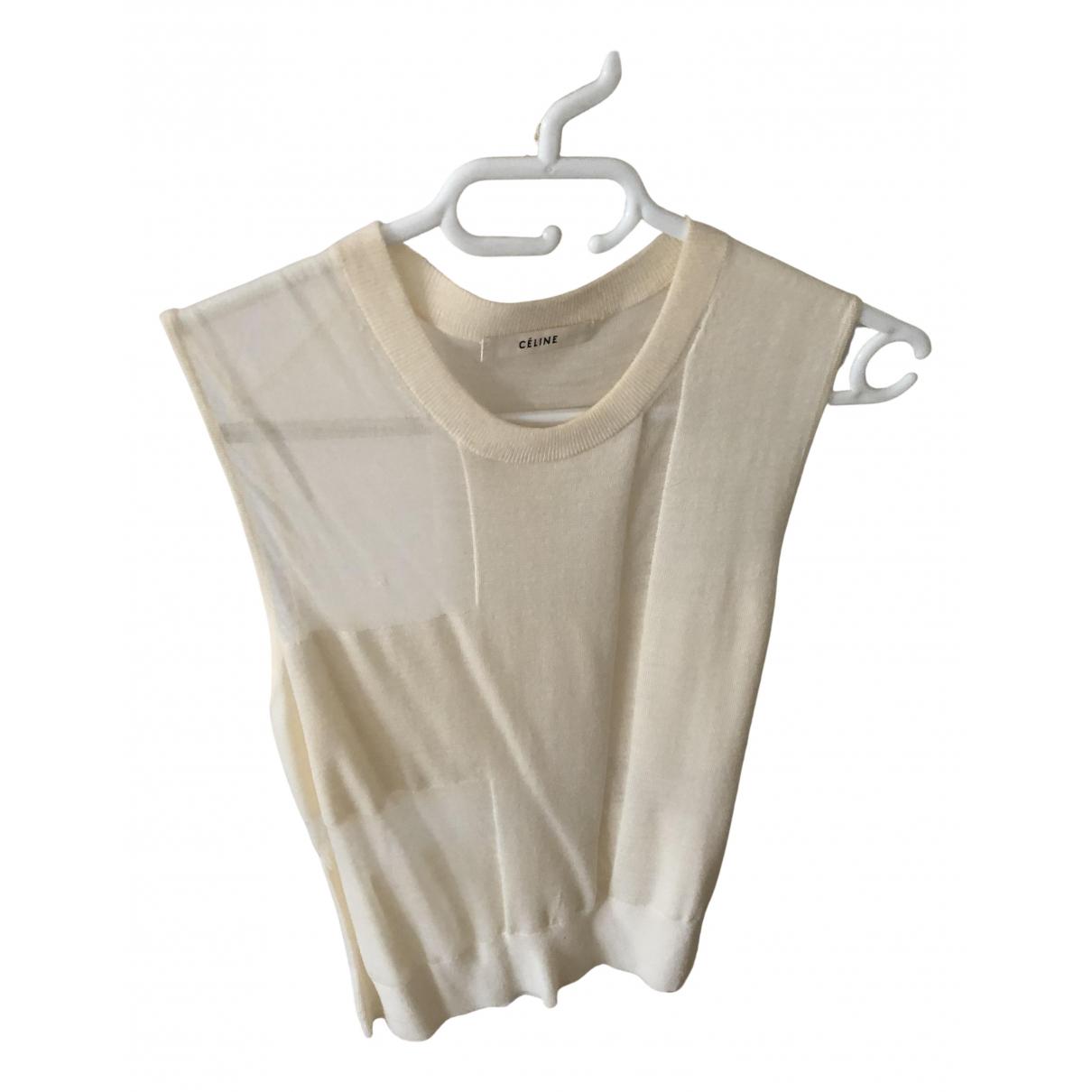 Celine - Pull   pour femme en laine - ecru