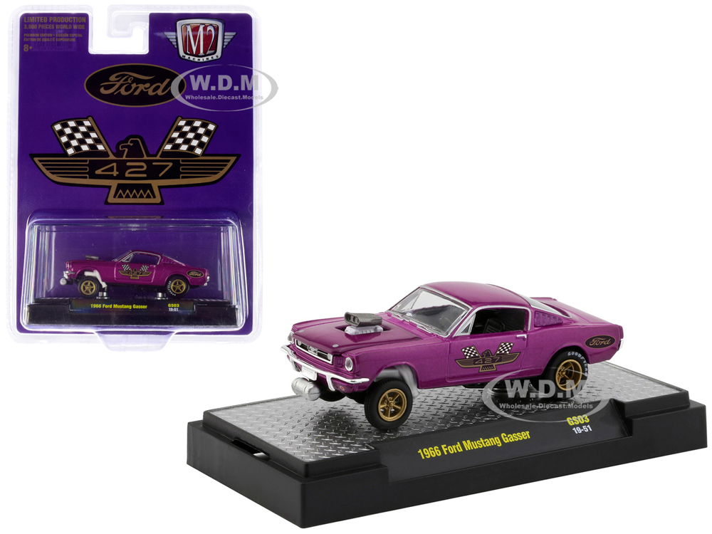1966 Ford Mustang Gasser Purple Metallic with Gold Wheels