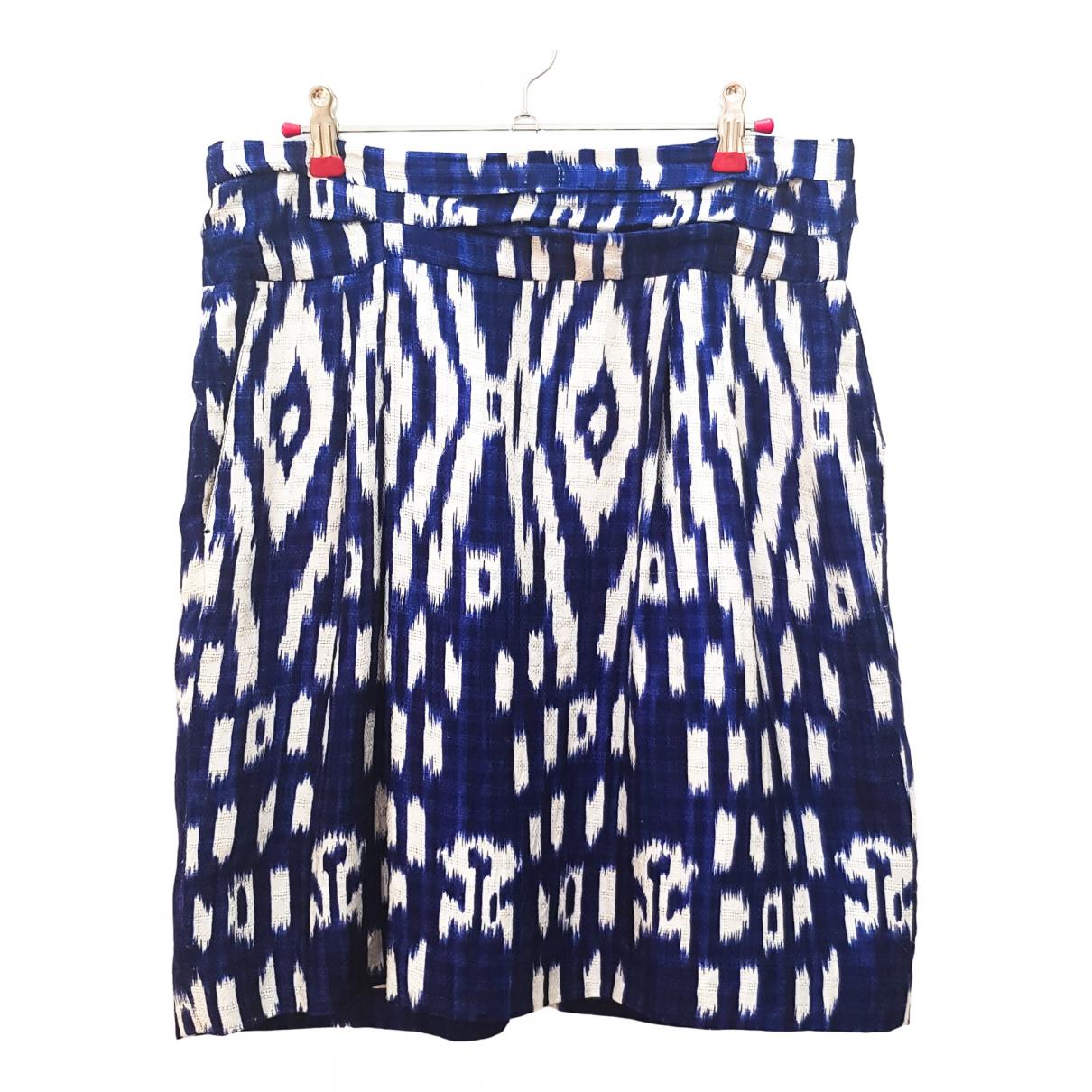 Dries Van Noten - Jupe   pour femme en soie - bleu