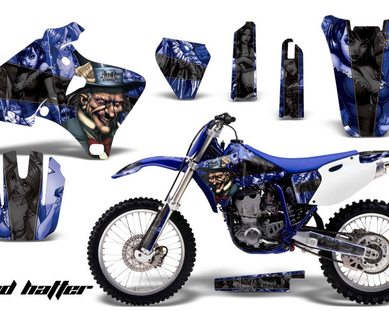 AMR Racing Dirt Bike Graphics Kit Decal Wrap For Yamaha YZ 250F/400F/426F 1998-2002áHATTER BLUE BLACK