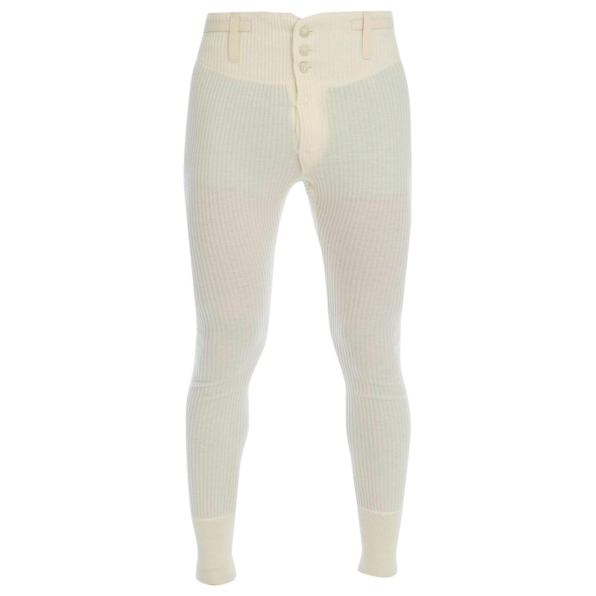 Dolce & Gabbana - Pantalon   pour homme en cachemire - blanc