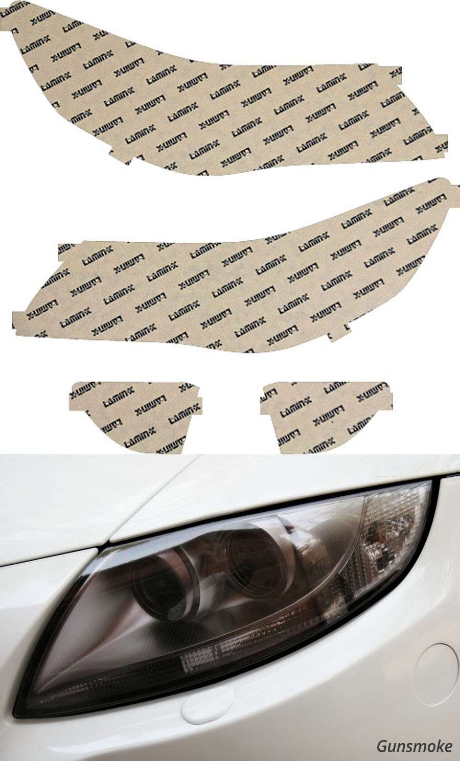 Acura RL 09-12 Gunsmoke Headlight Covers Lamin-X AC020G