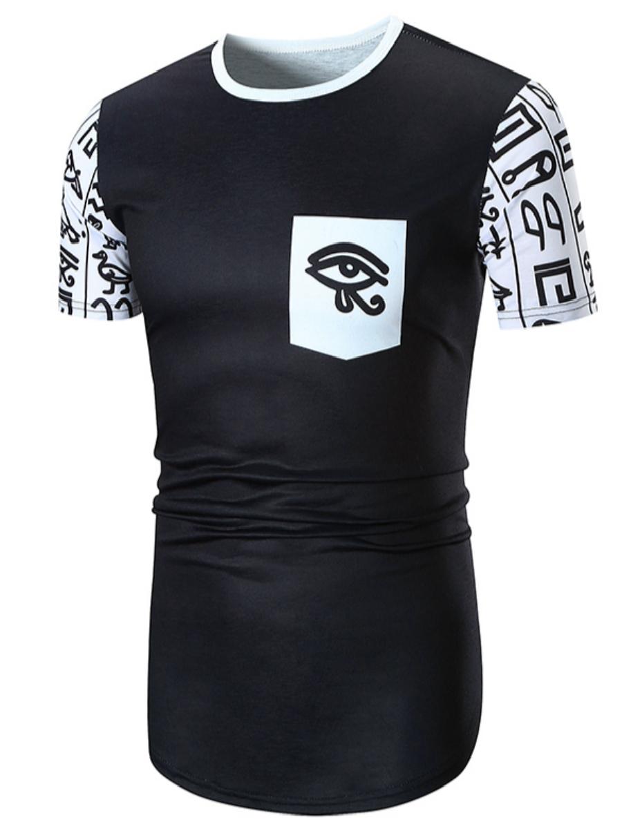 Funny Round Neck Men Short Sleeve 3D Tee T-Shirt