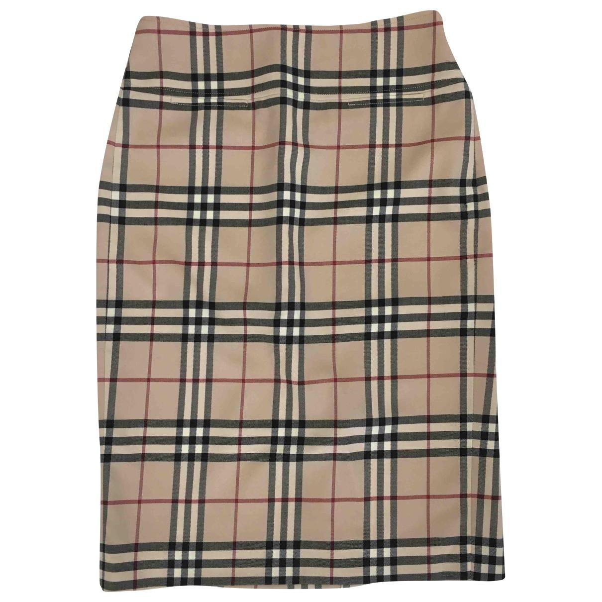 Burberry \N Beige Wool skirt for Women 36 FR