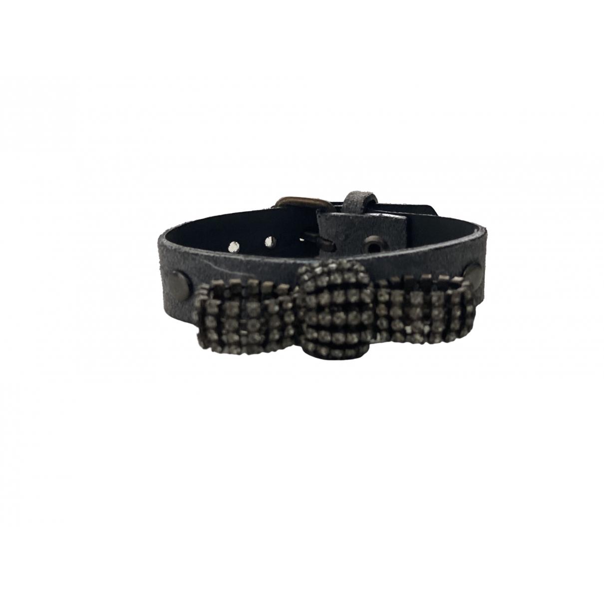 Dukas \N Armband in  Grau Leder