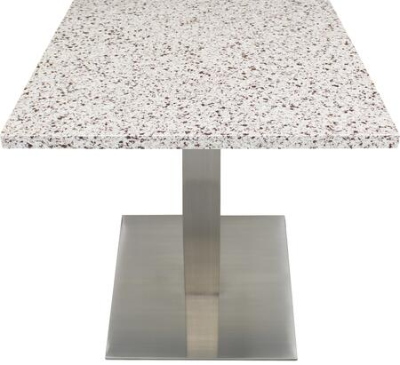 Q411 30X30-SS05-17H 30x30 Chocolate Blizzard Quartz Tabletop with 17