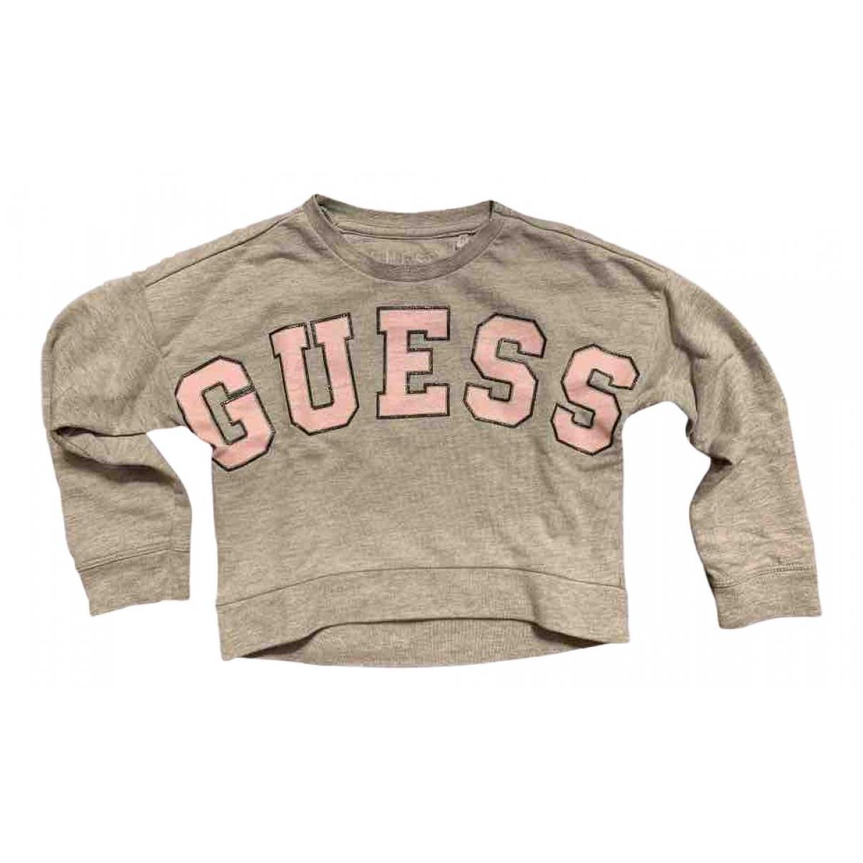 Guess - Pull   pour enfant en coton - gris