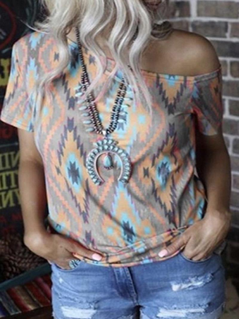 Ericdress Short Sleeve Color Block Standard Casual T-Shirt
