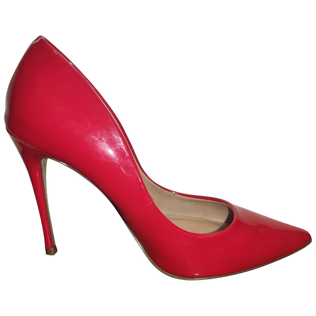 Steve Madden - Escarpins   pour femme en cuir - rouge