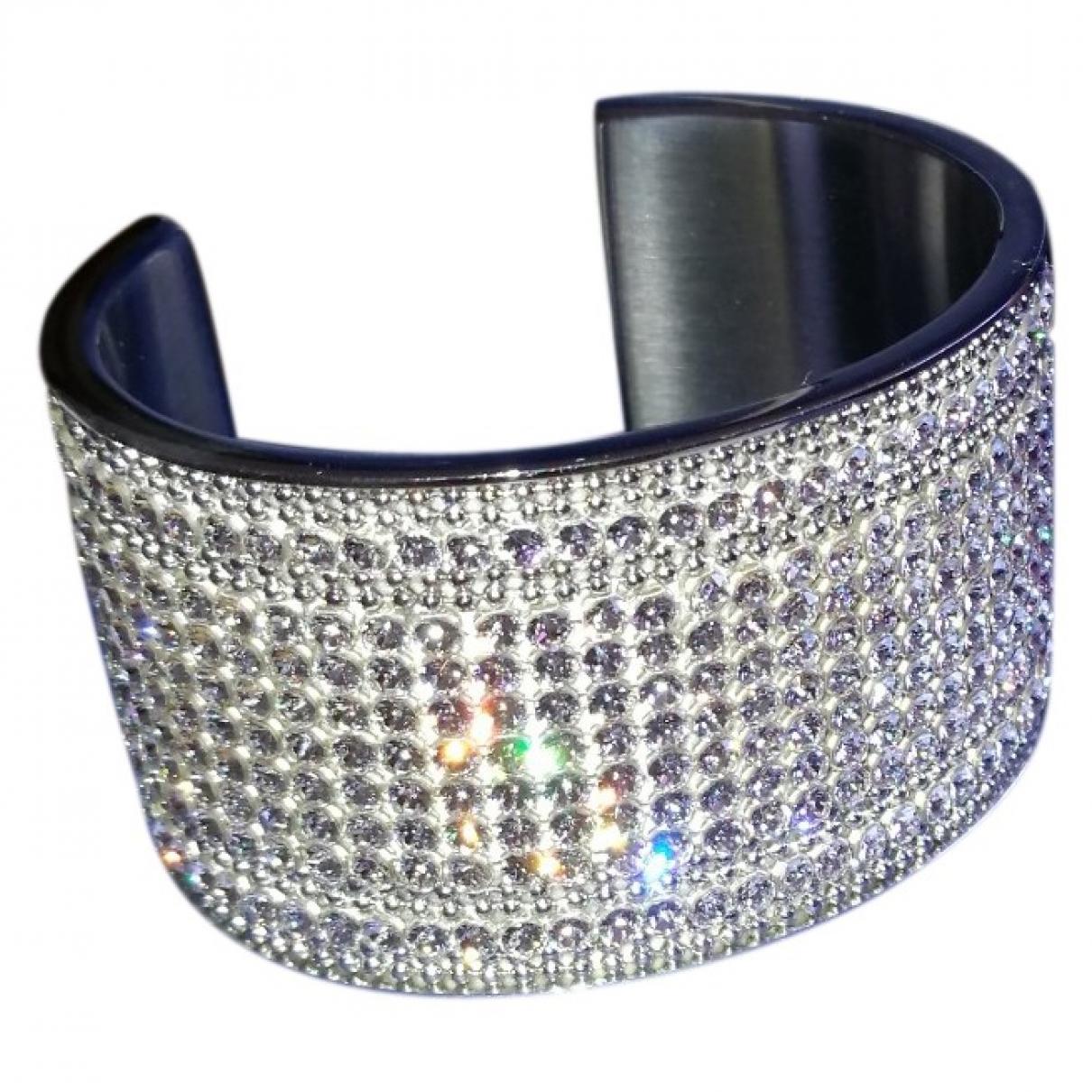 Swarovski \N Armband in  Silber Kristall