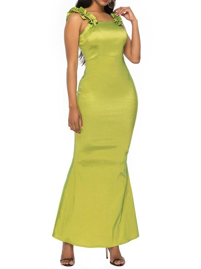 Ericdress Sleeveless Ankle-Length Stringy Selvedge Plain Bodycon Dress