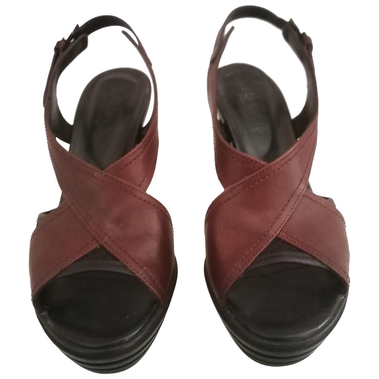 Hogan N Brown Leather Heels for Women 35 EU