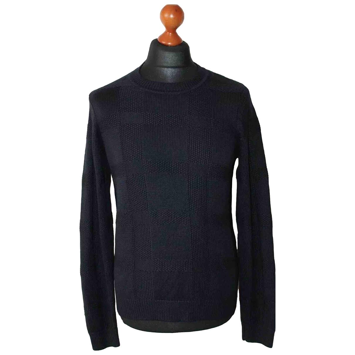 Sandro Fall Winter 2019 Pullover.Westen.Sweatshirts  in  Marine Baumwolle