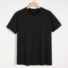 Men Patched Short Sleeve Tee
