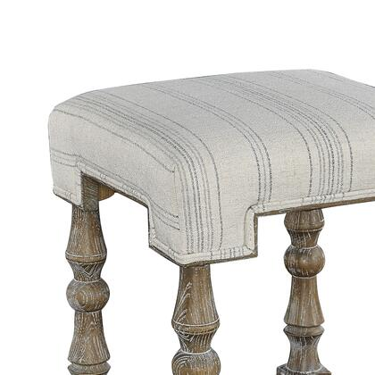 BM204918 Fabric Upholstered Wooden Bar Stool with Footrest  Gray and