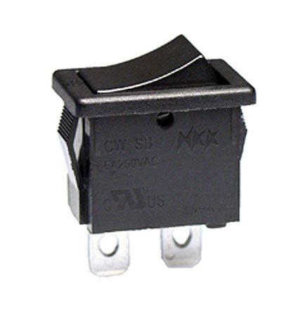 NKK Switches Single Pole Single Throw (SPST), On-None-Off Rocker Switch Panel, Snap-In Mount (5)