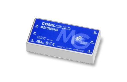 Cosel MGF 59.4W Isolated DC-DC Converter PCB Mount, Voltage in 9 ? 36 V dc, Voltage out 3.3V dc