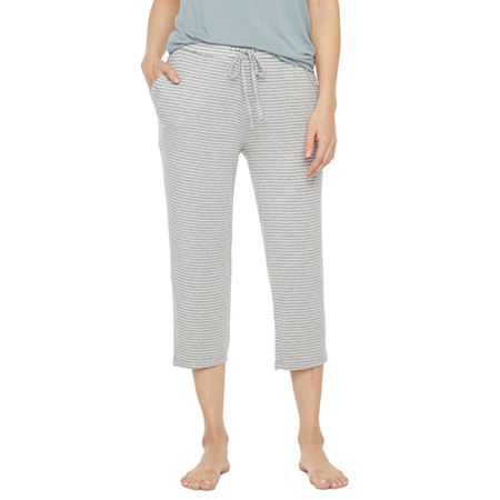 Ambrielle Womens Pajama Pants, Small , Gray