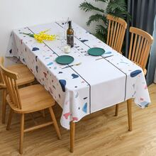 1 Stueck Tischtuch mit Buchstaben Grafik