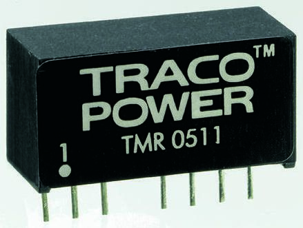 TRACOPOWER TMR 2 2W Isolated DC-DC Converter Through Hole, Voltage in 36 → 75 V dc, Voltage out ±12V dc