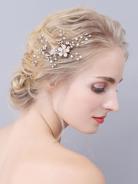 Milanoo Headpiece Wedding Comb Metal Hair Accessories For Bride