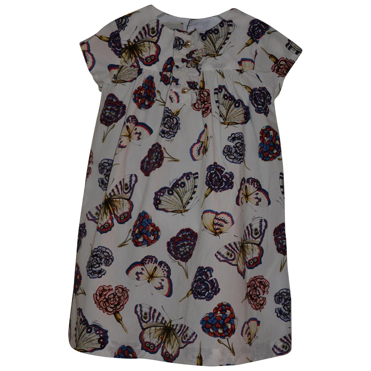 Gucci \N Kleid in  Ecru Baumwolle