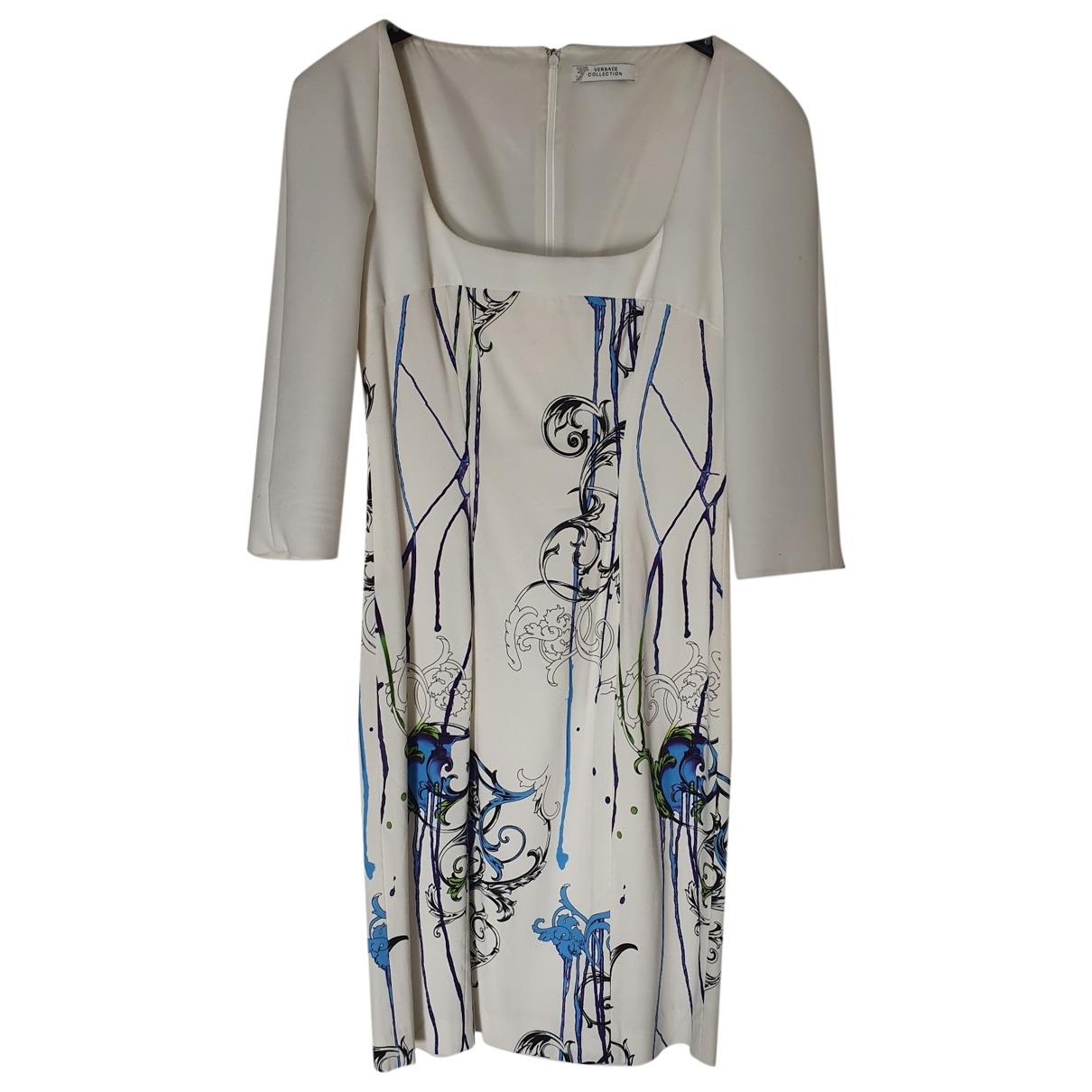 Versace \N Kleid in  Weiss Viskose