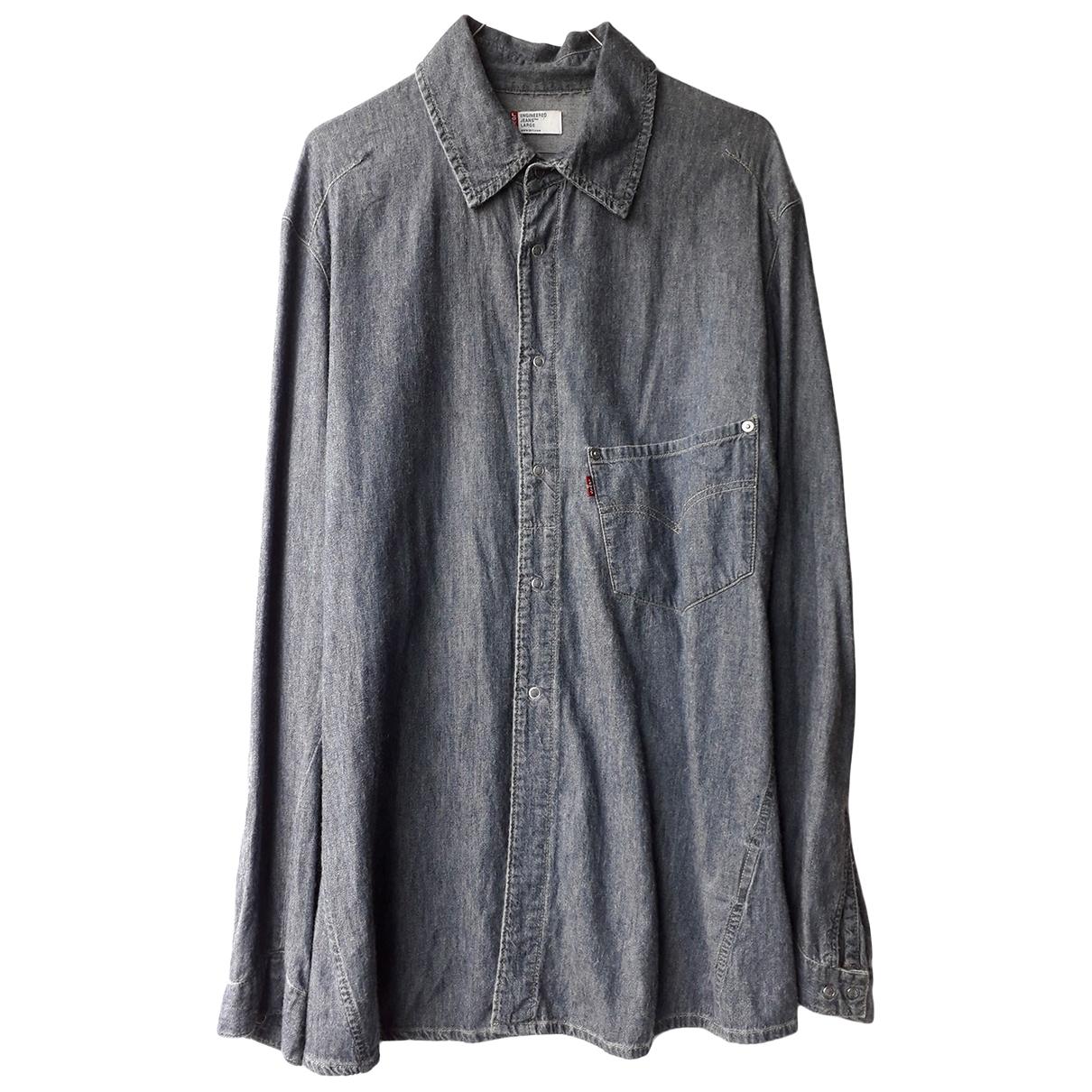Levi's \N Blue Cotton Shirts for Men L International