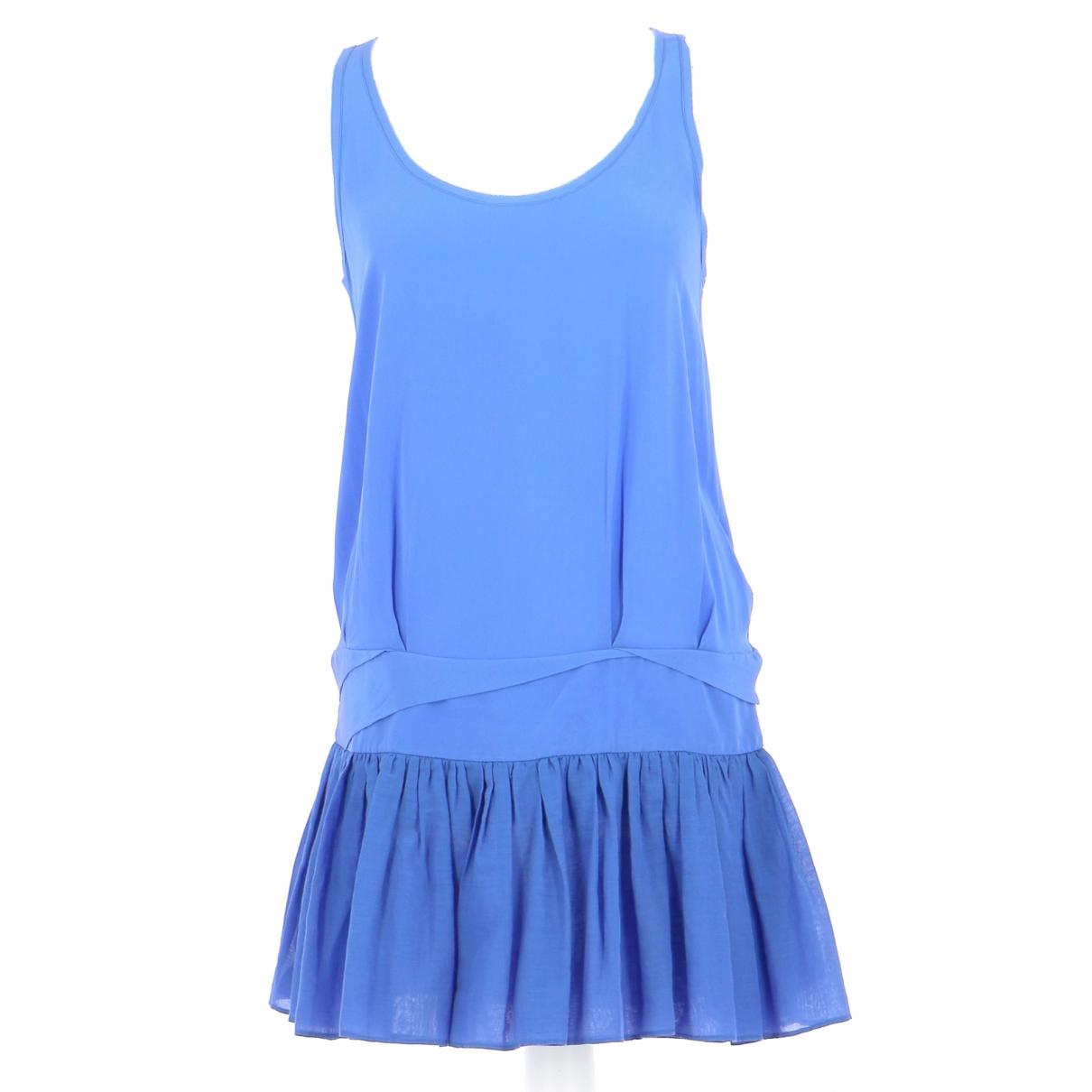 Maje \N Kleid in  Blau Baumwolle