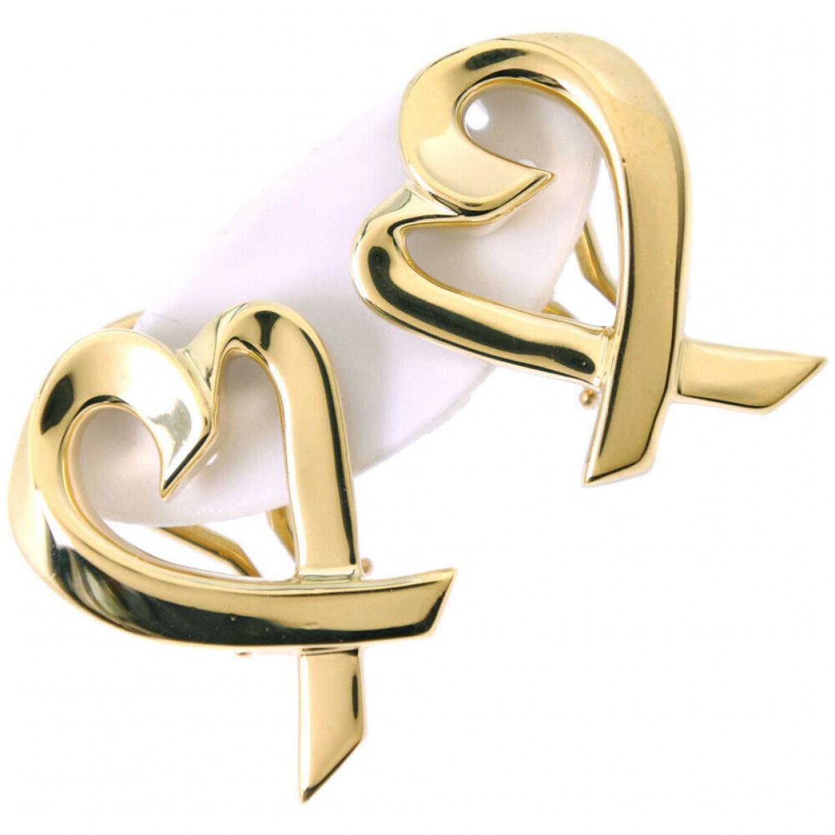 Tiffany & Co - Boucles doreilles Paloma Picasso pour femme en or jaune - dore