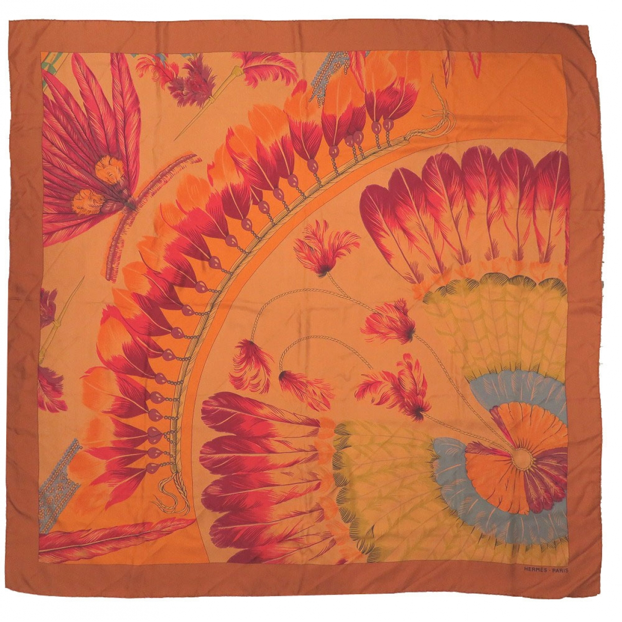 Hermès \N Orange Silk scarf for Women \N