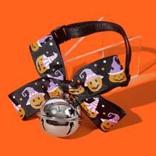 1 pieza collar de perro de halloween con campana